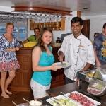 Serving-dinner-buffet-Carpe-Vita-Explorer-Maldives-Explorer-Ventures-Liveaboard-Diving