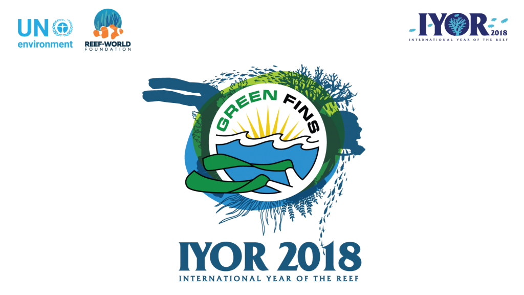 Green Fins Reef World IYOR Logo