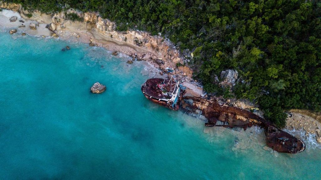 Pamead Wreck in Sandy Ground, Anguilla. Photo by Sarah Dauphinee, Caribbean Explorer II Crew