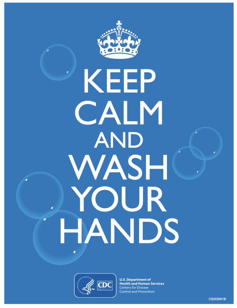 COVID-19 Health and Safety Poster. Wash your hands!