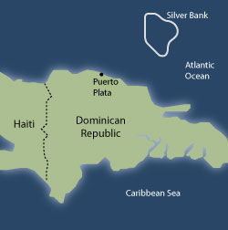 Roximately 80 Miles North Of The Dominican Republic And 100 Southeast Turks Caicos Islands Lie Shoals Silver Bank